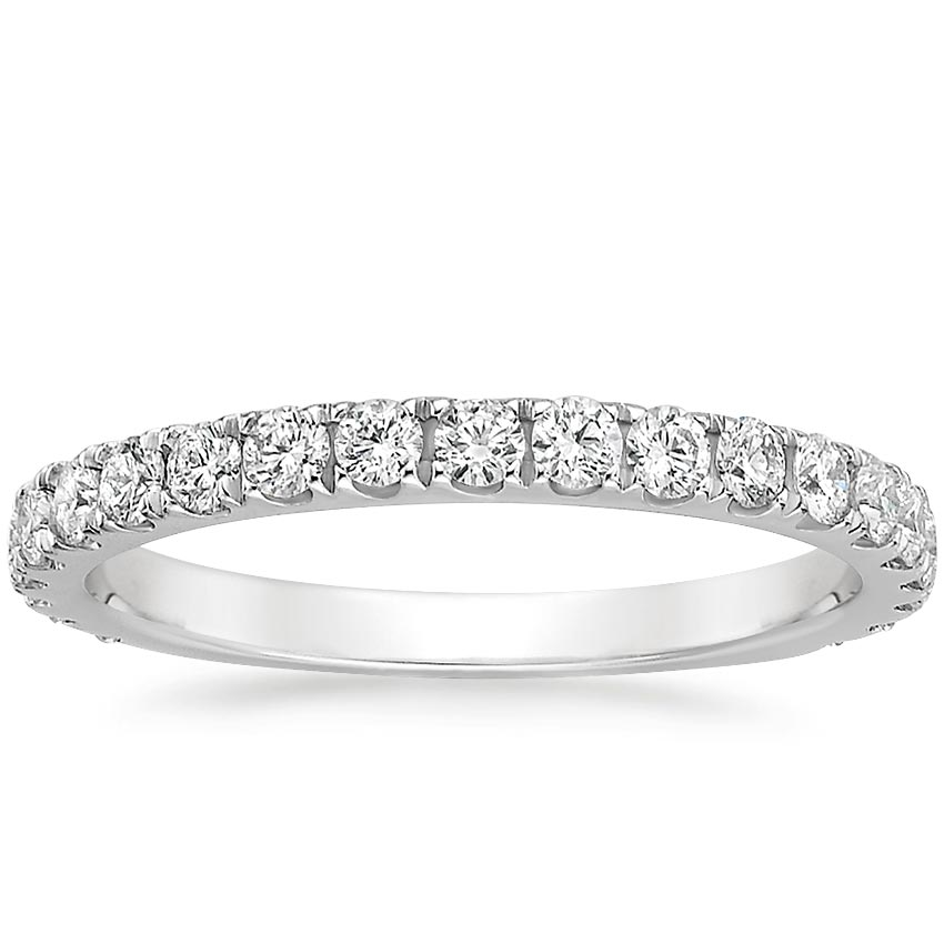 Scalloped Pavé Wedding Band
