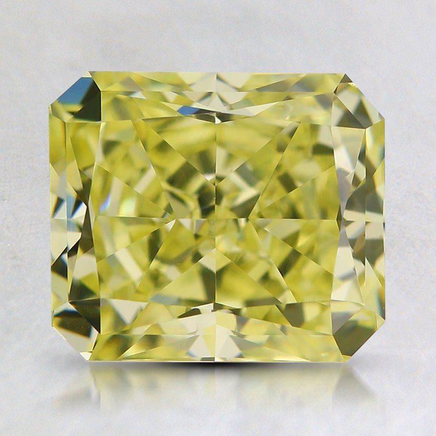 2.08 Ct. Natural Fancy Yellow Radiant Diamond