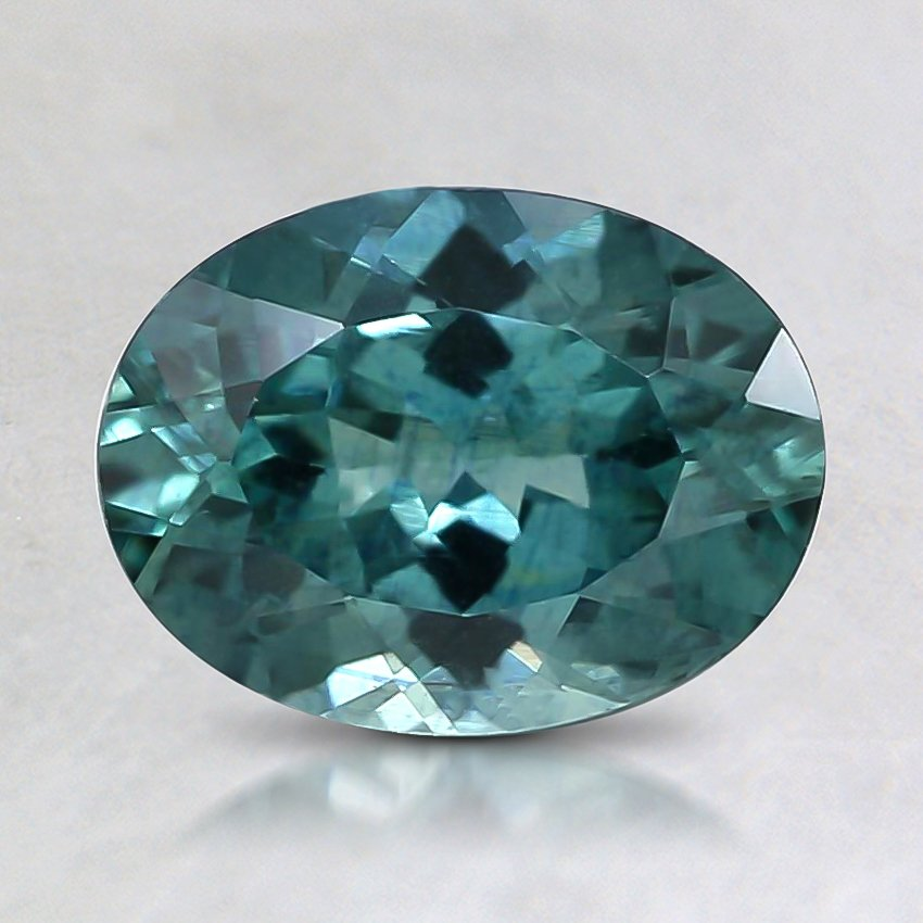 8.1x6.1mm Premium Teal Oval Sapphire
