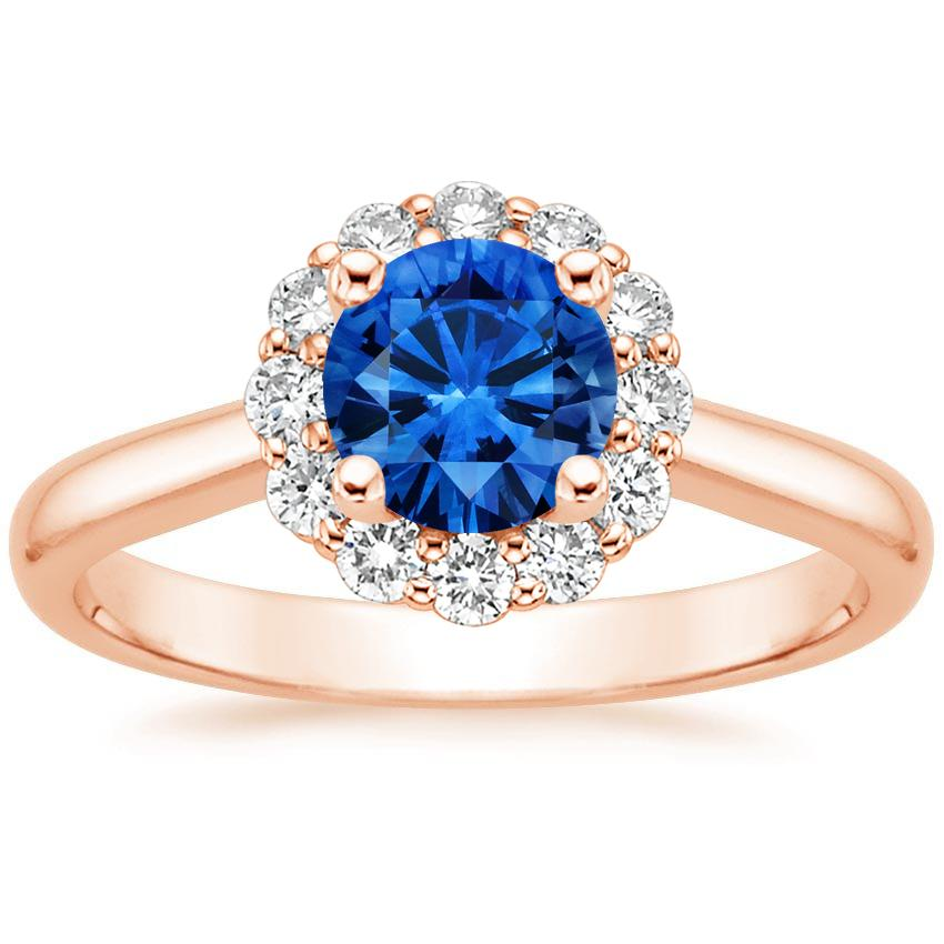 Incroyable Sapphire Lotus Flower Diamond Ring (1/3 Ct. Tw.) In 14K