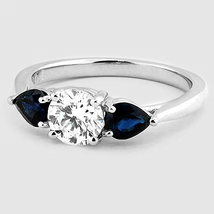 Platinum Forget Me Not Ring