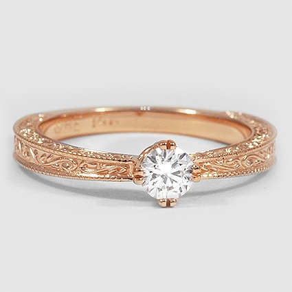 14K Rose Gold True Heart Ring