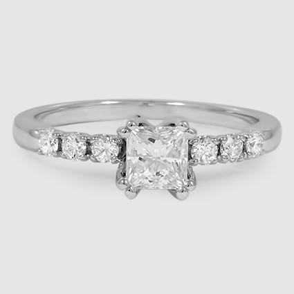 18K White Gold Posie Diamond Ring
