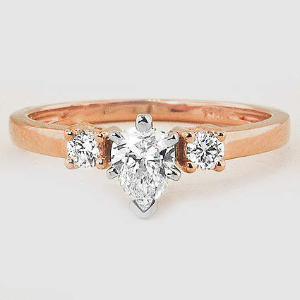 14K Rose Gold Sweetheart Diamond Ring
