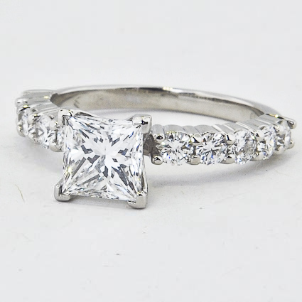 Platinum Luxe Shared Prong Diamond Ring (over 1/2 ct. tw.)