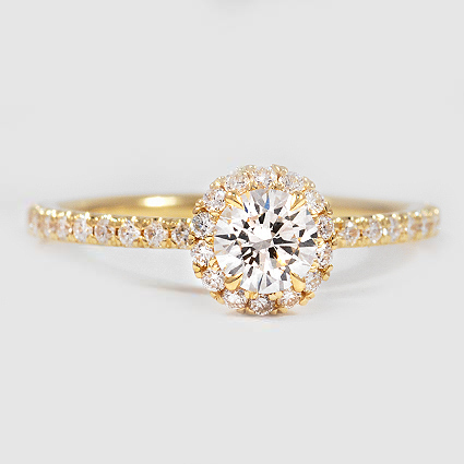 18K Yellow Gold Waverly Diamond Ring (1/2 ct. tw.)