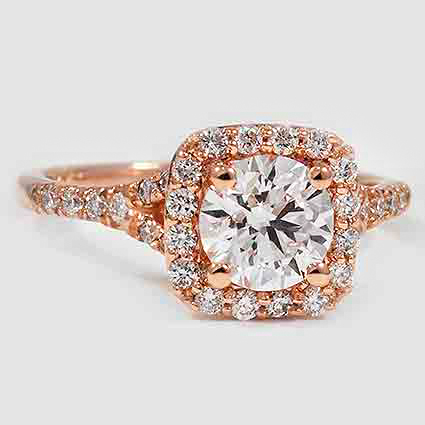 14K Rose Gold Harmony Diamond Ring