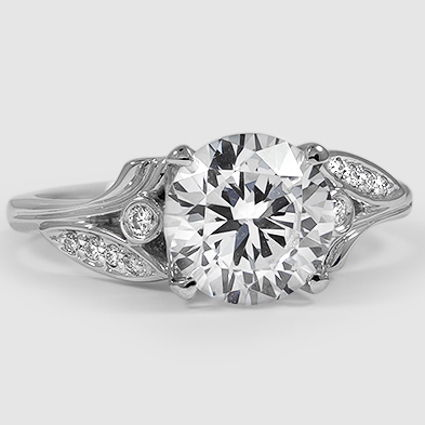 18K White Gold Jasmine Diamond Ring