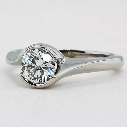 18K White Gold Cascade Ring