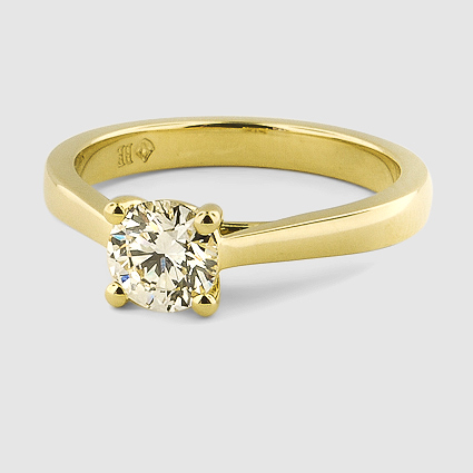18K Yellow Gold Petite Tapered Trellis Ring