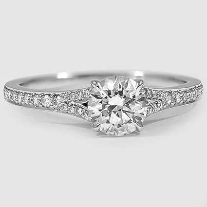 Split Shank Diamond Ring Duet Brilliant Earth