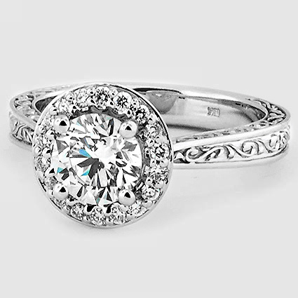 18K White Gold Contessa Ring