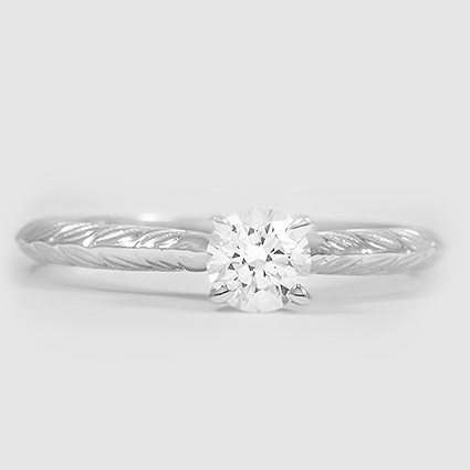 18K White Gold Garland Ring