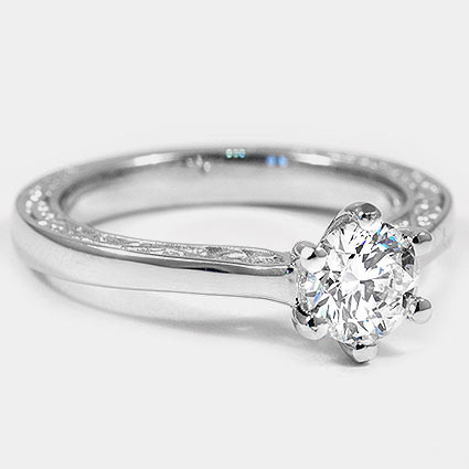 18K White Gold Secret Garden Ring