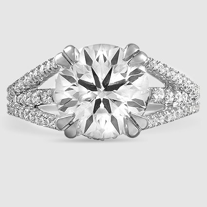 platinum riviera 302 carat round lab diamond