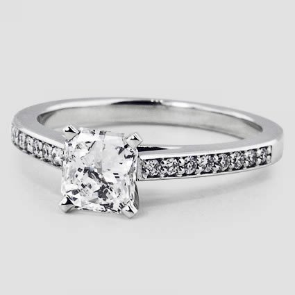 18K White Gold Starlight Diamond Ring