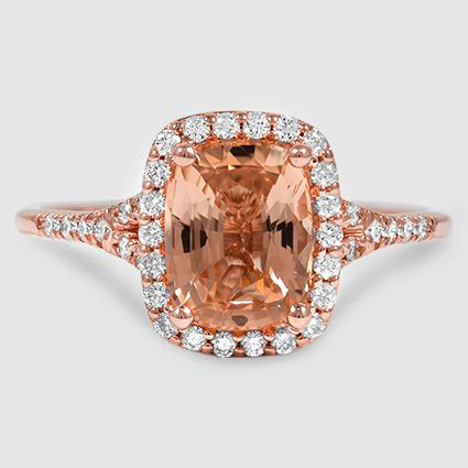 14K Rose Gold Sapphire Harmony Diamond Ring