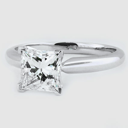 Platinum Four-Prong Classic Ring