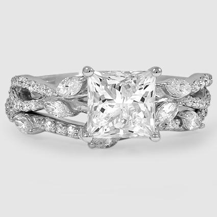 18K White Gold Luxe Willow Matched Set (1/2 ct. tw.)