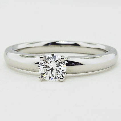 Platinum 3mm Comfort Fit Ring