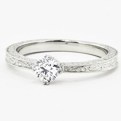 Platinum True Heart Ring