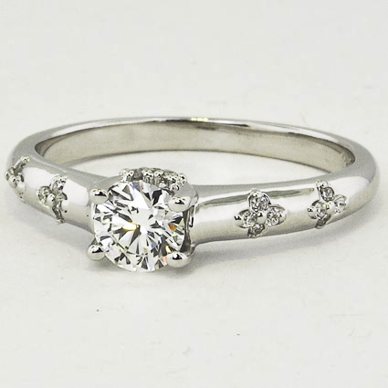 18K White Gold Blossom Ring