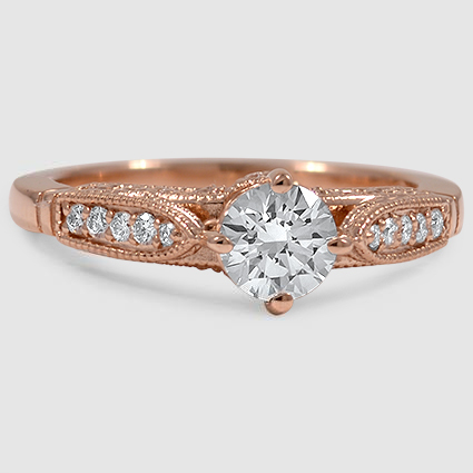14K Rose Gold Heirloom Diamond Ring (1/4 ct. tw.)