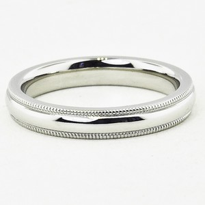 Platinum 3mm Milgrain Wedding Ring
