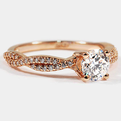 14K Rose Gold Twisted Vine Diamond Ring (1/4 ct. tw.)