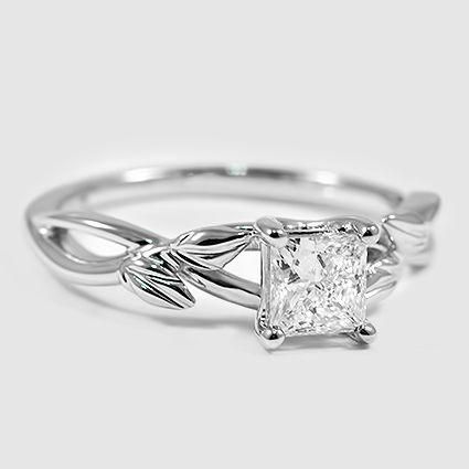 18K White Gold Budding Willow Ring