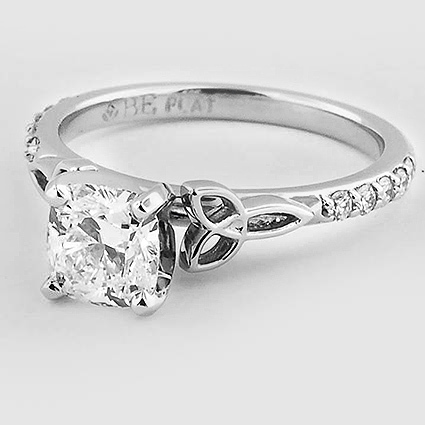 Platinum Luxe Celtic Love Knot Ring