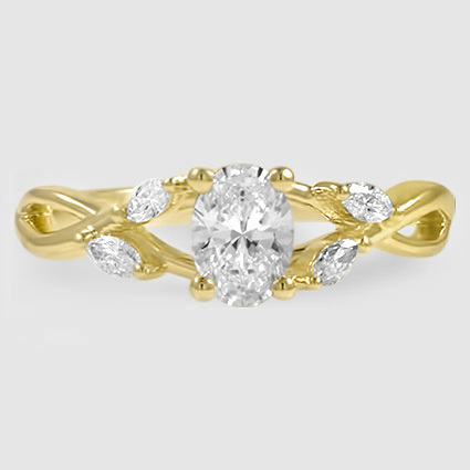 18K Yellow Gold Willow Diamond Ring