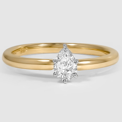 18K Yellow Gold 2mm Comfort Fit Ring