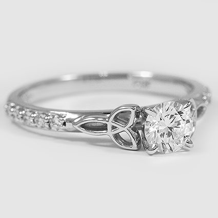 18K White Gold Luxe Celtic Love Knot Ring