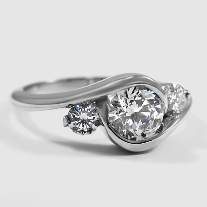 Platinum Cascade Three Stone Ring (1/3 ct. tw.)