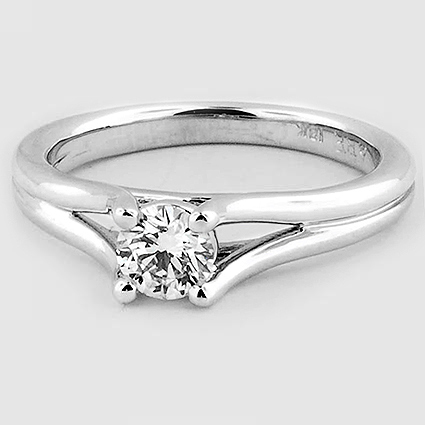 18K White Gold Unity Ring