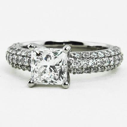 Platinum Pavé Diamond Multi Row Ring (1/2 ct.tw.)