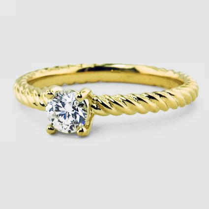 18K Yellow Gold Entwined Ring