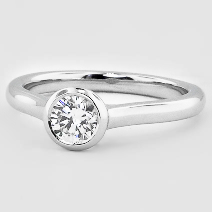 Platinum Luna Ring