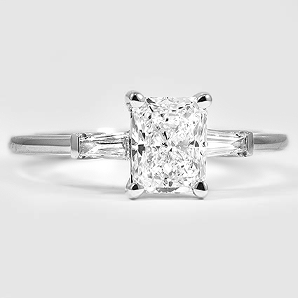 18K White Gold Tapered Baguette Diamond Ring