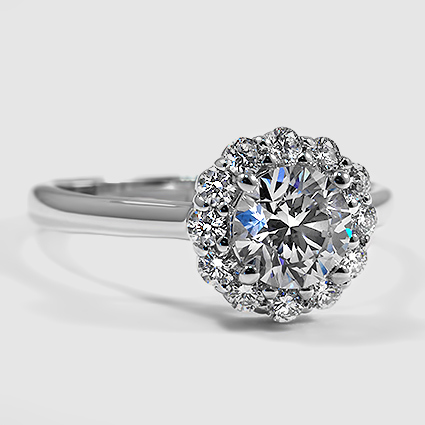 18K White Gold Lotus Flower Diamond Ring (1/3 ct. tw.)