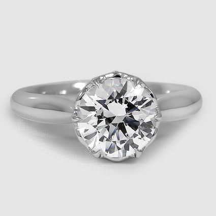 18K White Gold Pirouette Diamond Ring