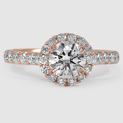 14K Rose Gold Sienna Diamond Ring