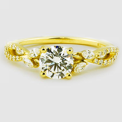 18K Yellow Gold Luxe Willow Diamond Ring (1/3 ct. tw.)