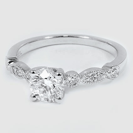 Platinum Tiara Diamond Ring