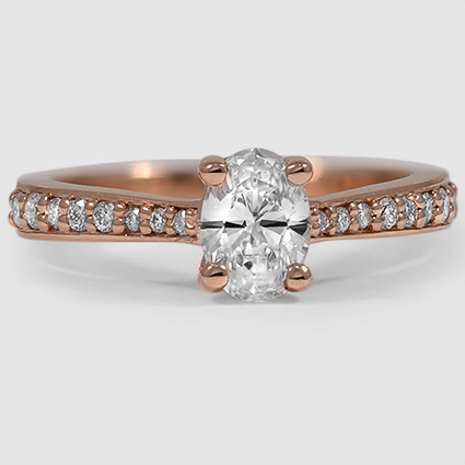 14K Rose Gold Geneva Diamond Ring