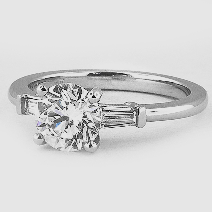 Platinum Tapered Baguette Diamond Ring