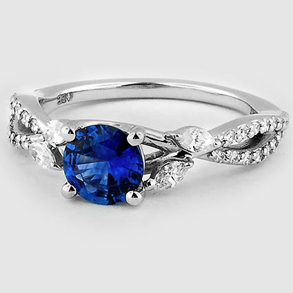 Platinum Sapphire Luxe Willow Diamond Ring (1/3 ct. tw.)