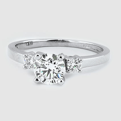 Platinum Sweetheart Diamond Ring