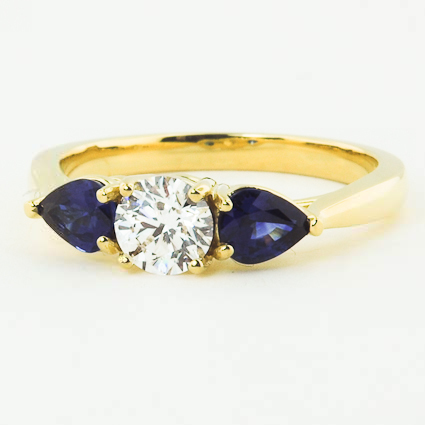 18K Yellow Gold Forget Me Not Ring